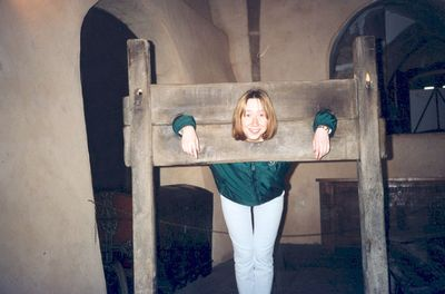 In the pillory,